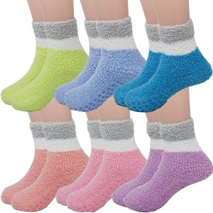 Kids Two Tone Fuzzy Socks