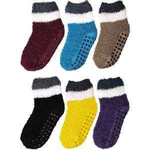 KIds Two Tone Dark Fuzzy Socks