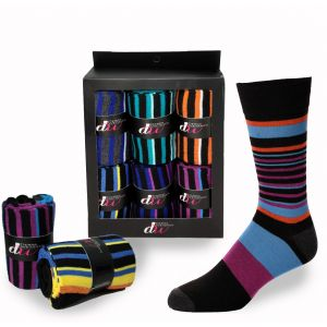 Mens Dress Socks - Multistriped