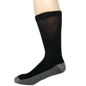 Diabetic Reinforced Crew Socks Black