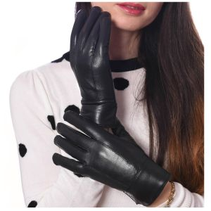 Womens Leather Winter Gloves Thinsulated Lined