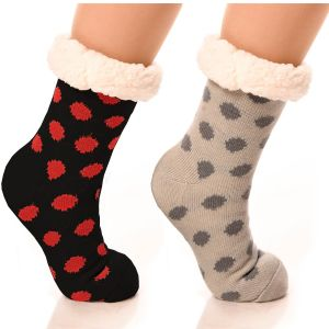 Slipper Socks Polka-Dot With Grips