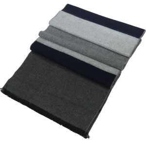 Mens Winter Cashmere Scarf  Blue/Grey-2