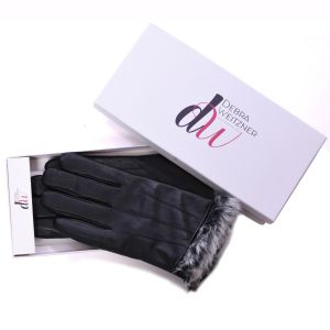 Mens Leather Winter Gloves Fur Lined W/Gift Box