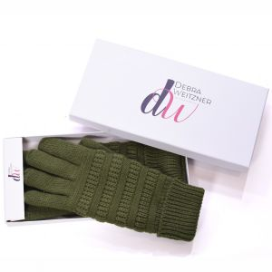 Knit Winter Gloves Olive