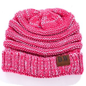 Winter Beanie Hat Kids Pink/Fuchsia Metallic