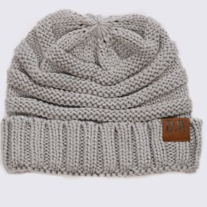 Winter Beanie Hat Kids Grey