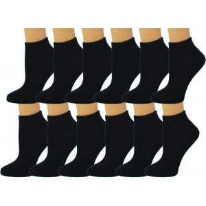 Ankle Summer Socks -Black Womens Size 9-11
