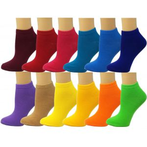 Ankle Summer Socks -Solid-Womens Size-9-11
