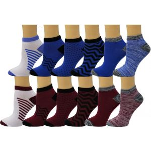 Ankle Summer Socks Blue Maroon Pattern Case