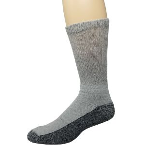Diabetic Reinforced Crew Socks Grey/Black