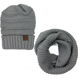 Infinity Scarf Set-Grey