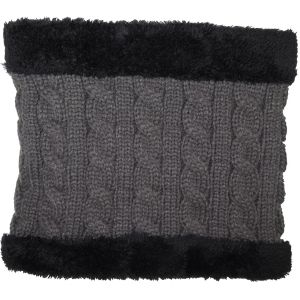 Winter Fur Lined Neck Warmer Grey