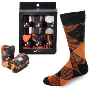 Mens Dress Socks - Orange
