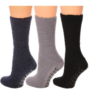 Cozy Hospital Socks Black/Grey Combo