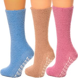 Cozy Hospital Socks Pink/Beige Combo