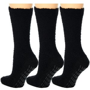 Cozy Hospital Socks Black