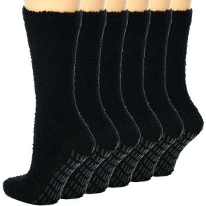 Cozy Hospital Socks - Black