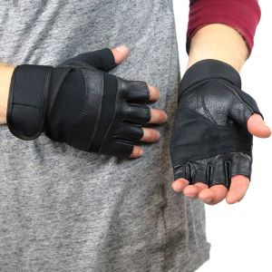 Leather Gym Gloves