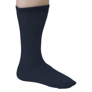 Diabetic Crew Socks - Navy