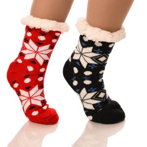 Slipper Socks Snowflakes With Grips
