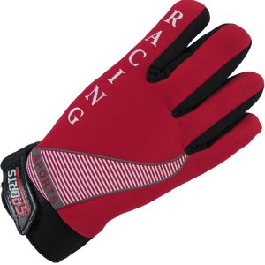 Fur Lined Sport Glove Red