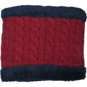 Winter Fur Lined Neck Warmer Burgundy