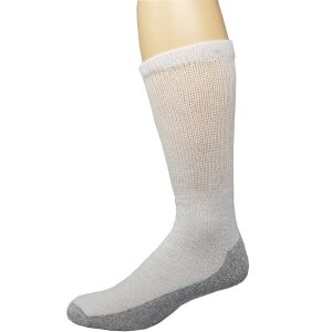 Diabetic Reinforced Crew Socks White/Grey