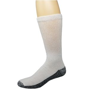 Diabetic Reinforced Crew Socks White/Black