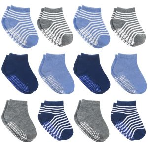 Non Slip Toddler Socks - Solid and Striped Boys