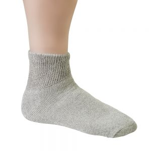Diabetic Ankle Socks Grey