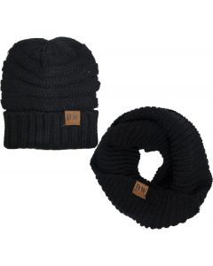 Infinity Scarf Set-Black