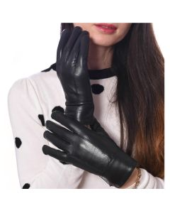 Womens Leather Winter Gloves Thinsulated Lined-Extra Large