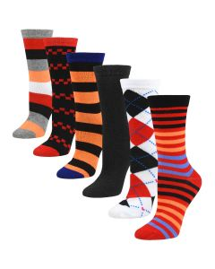 Women's Colorful Crew Socks Casual - Pattern Two
