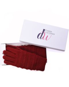 Knit Winter Gloves Burgundy