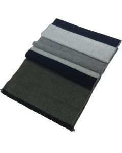 Mens Winter Cashmere Feel Scarf  Blue/Grey-2
