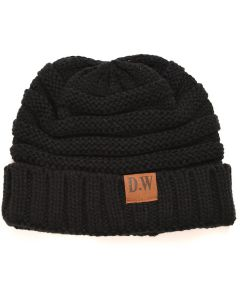Winter Beanie Hat Kids Black