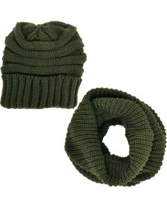 Infinity Scarf Set-Green