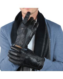 Mens Leather Winter Gloves Thinsulate Lined-Large