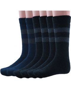 Wool Winter Socks Black/Navy Combo