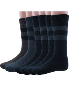 Wool Winter Socks Black/Grey/Brown Combo